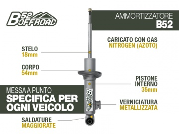 B52 OFFROAD SHOCK FOR FIAT FULLBACK FRONT