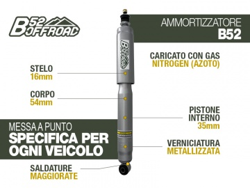 B52 OFFROAD SHOCK FOR SUZUKI GRAND VITARA REAR