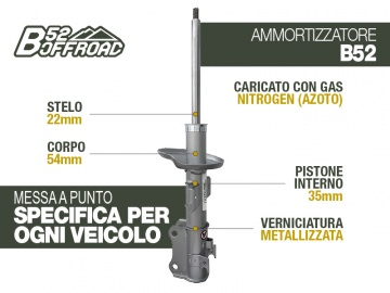 B52 OFFROAD SHOCK FOR SUZUKI NEW GRAND VITARA FRONT