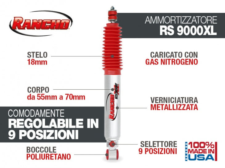 RANCHO 9000 SHOCK FOR TOYOTA KZJ/KDJ 90/95 REAR