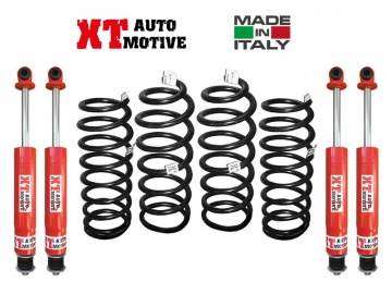KIT DI RIALZO COMPLETO XT AUTOMOTIVE +10 CM PRO VERSION PER TOYOTA LJ-KZJ 70/73 FARO QUADRO