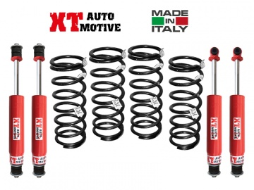 KIT DI RIALZO COMPLETO XT AUTOMOTIVE +4/5CM RAID VERSION PER LAND ROVER DEFENDER 110